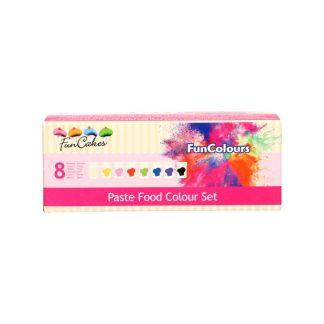 Pack 8 colorantes en pasta Funcolours de Funcakes colores