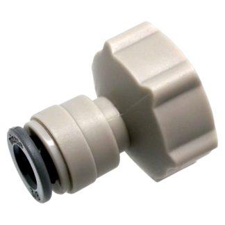 Adaptador grifo D&F de salida 3/4 con junta protectora para fuga de agua