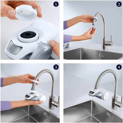 Adaptador i sistema de filtratge de l'aigua per aixetes de cuina Brita On Tap, filtrar aigua de cuina