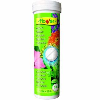 Abono Energy Tablet Nutrisol Flower para geranios y plantas de flor de jardín