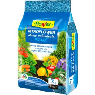 Abono fertilizante para huerto y jardín nitrofoska azul nitroflower