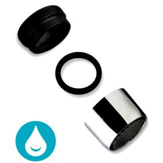 Aireador para grifo de Plastisan con adaptador, ahorro de agua