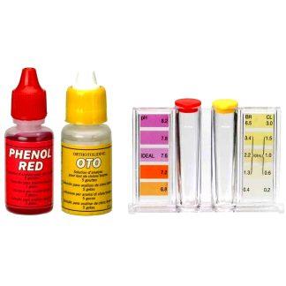 Analizador de agua de piscinas para medir los niveles de cloro/bromo y ph, tratamiento del agua de piscina