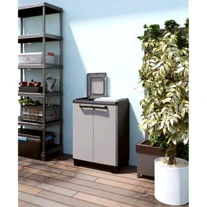 Armario contenedor para basura y residuos de jardín, contenedor de reciclaje