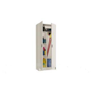 Armario multiuso con estantes y 2 puertas blanco
