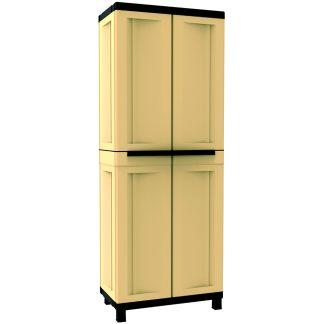 Armari de resina amb prestatges color sorra i marró