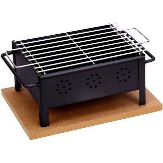 Barbacoa de carbó vegetal per sobretaula amb graella inoxidable SAUVIC