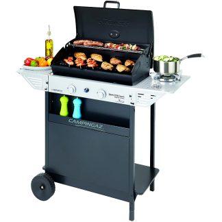 Barbacoa a gas Xpert 200 LS Rocky Campingaz para barbacoas de jardín y terraza en verano, con fogón, parrilla, horno, grill