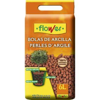Boles d'argila expandida 6 L per jardineria de FLOWER