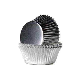 Cápsulas CupCakes plata metalizado