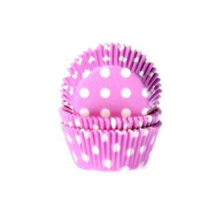 Cápsulas CupCakes rosa topos