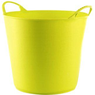 Capazo de plástico flexible para jardinería o pintura y limpieza, 42 litros NON