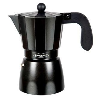 Cafetera d'alumini negra Touareg de OROLEY.