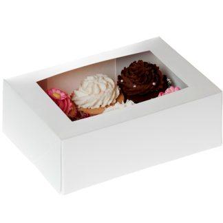 Caixa per a cupcakes de rebosteria, muffins i magdalenes