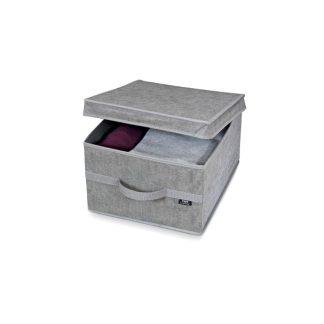 Caja guarda ropa gris talla L