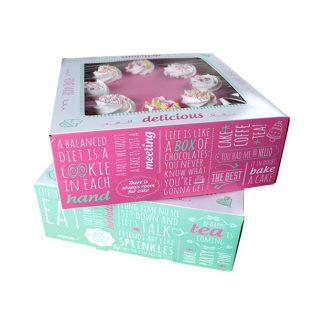 Caixa pastissos amb frases