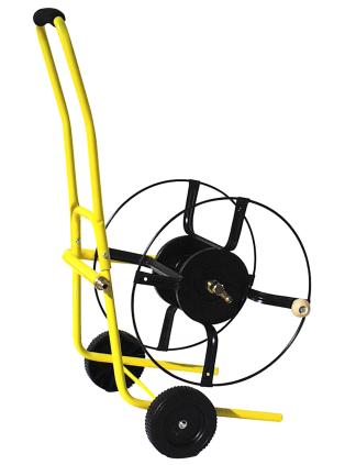 carro portamanguera profesional amarillo