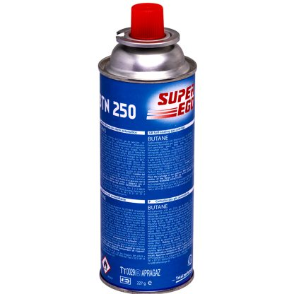 Cartucho de gas butano con válvula BTN250 250ml para cocinas y fogones portátiles de camping, barbacoa portátil