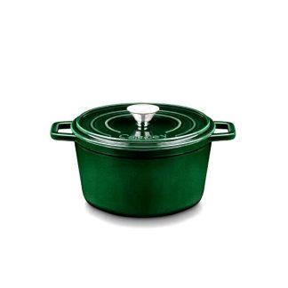 Cazuela hierro fundido verde