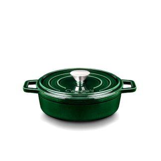 Cazuela hierro fundido verde baja