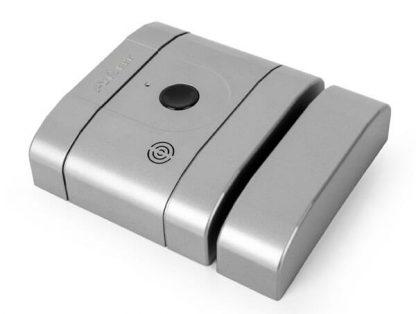 Cerradura electrónica invisible de seguridad int-LOCK PRO de AYR, con alarma y app gratuita con wifi y bluetooth, níquel mate