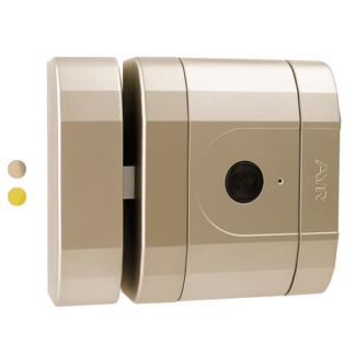 cerradura electrónica de seguridad Int-Lock invisible con alarma y encriptación en color níquel