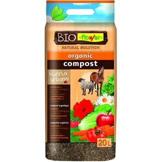 Substrat compost orgànic cavall i ovella de flower per a hort urbà, jardí i plantes i flors