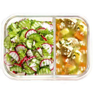 Contenidor aliments de vidre dividit IRIS