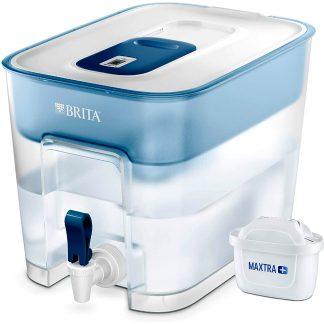 Dispensador de agua filtrada Brita Flow con filtro Maxtra para filtrar y purificar el agua, con grifo