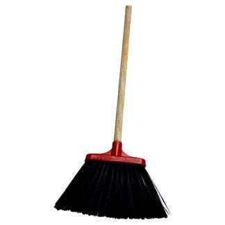 Escoba pvc limpieza con palo de madera limpiar
