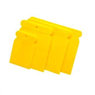 Espàtules plàstic pintura 4 unitats rascar decapar