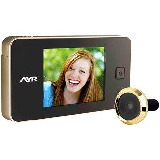 Mirilla digital AYR para la seguridad del hogar modelo 752 gama face níquel cromo y latón