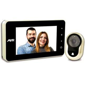 Mirilla digital AYR gama FACE modelo 758 alarma y grabadora de imagenes para la seguridad del hogar