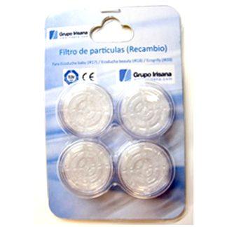 Juego 4 filtros para el Ecogrifo Irisana, para filtrar el agua, reducir el cloro y ahorrar agua y energía