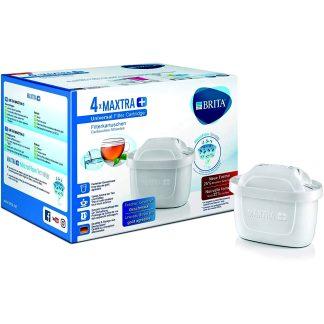Filtres Maxtra+ amb millor potència de filtració d'aigua, en pack de 4 unitats per a filtrar i purificar l'aigua.
