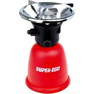 Hornillo SUPER-EGO para cartucho desechable, perfecto para camping, playa y para cocinar en excursiones en la montaña