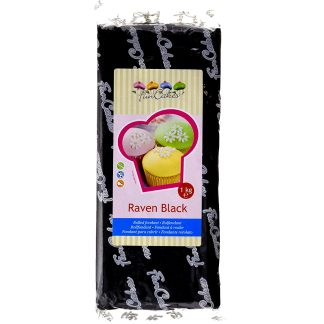 Fondant Negre 1kg Funcakes per a rebosteria creativa, pastissos