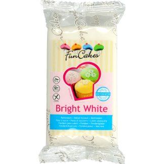 Fondant FUNCAKES Bright White sabor vainilla para repostería creativa, pasteles, cup cakes, cake pops