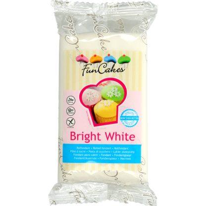 Fondant FUNCAKES Bright White sabor vainilla per rebosteria creativa, pastissos, cup cakes, cake pops