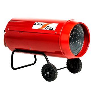 Generador d'aire calent amb rodes per a us exterior amb potència mínima de 300Kw i màxima de 40Kw de gas Propà-I3P.