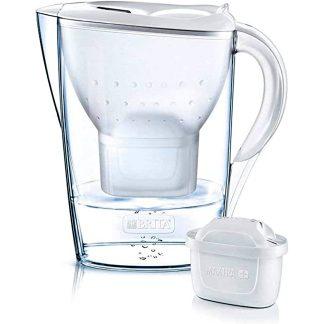Gerra filtrant martella brita blanca amb 2 filtres MAXTRA per a filtrar i purificar aigua