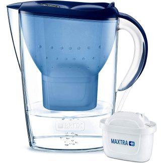Gerra filtrant martella brita blanca amb 3 filtres MAXTRA per a filtrar i purificar aigua