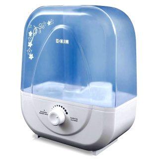 Humidificador ultrasónico discreto con 25W de potencia y 5 litros de capacidad de agua, con salida de vapor orientable