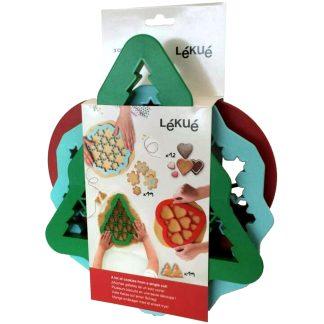 Joc de 3 talladors de rebosteria per a fer galetes de nadal LÉKUÉ