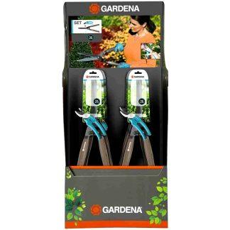 Juego tijera corta setos + tijera podadora Gardena para setos y arbustos del jardín