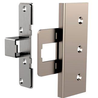 Kit de refuerzo cerrador para la cerradura de seguridad int-LOCK de AYR, protección en tu hogar, níquel mate