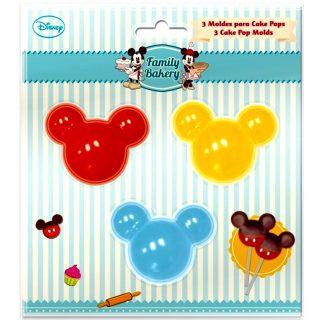 Motlles per a cake pops rebosteria FAMILY BAKERY en forma Mickey Mouse