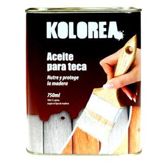 Aceite protector para madera de teca incoloro Kolorea pintura 750 ml