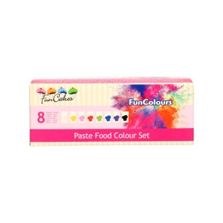 Pack 8 colorants en pasta Funcolours de Funcakes colors