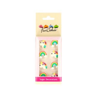 Pack unicornios arco iris de azúcar FunCakes